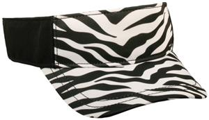 WHITE ZEBRA PRINT/BLACK
