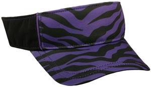 PURPLE ZEBRA PRINT/BLACK