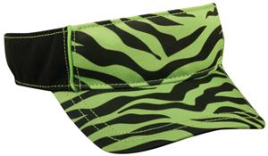 LIME GREEN ZEBRA PRINT/BLACK