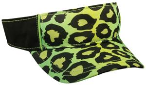LIME GREEN LEOPARD PRINT/BLACK