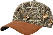 Richardson Duck Cloth Visor & Button Camo Caps