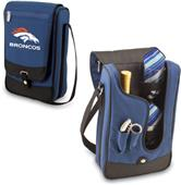 Picnic Time NFL Denver Broncos Navy Wine Tote