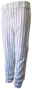 WHITE/BLACK PINSTRIPES