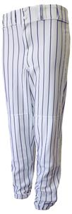 WHITE/NAVY PINSTRIPES