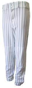 WHITE/DARK GREEN PINSTRIPES