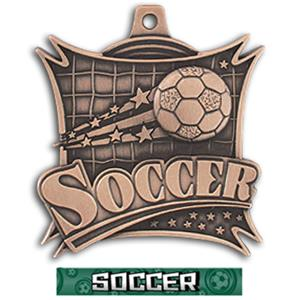 BRONZE MEDAL/GRAPHX  SOCCER RIBBON