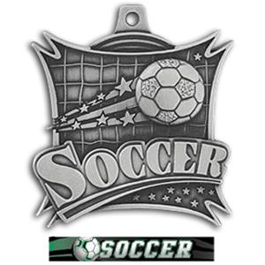 SILVER MEDAL/ULTIMATE SOCCER RIBBON