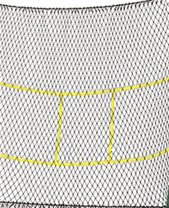 BLACK/YELLOW REPLACEMENT NET