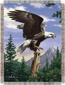 Northwest Hautman Bros Eagle Perch Tapestry Throws