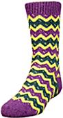 QT Feet Kids Recycled Zuni Fairisle Crew Socks