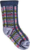 QT Feet Recycled Picnic Plaid Baby Socks