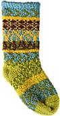 QT Feet Recycled Sunrise Fairisle Baby Socks
