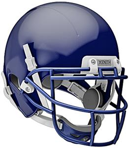 NAVY (HELMET/FACEMASK/CHINCUP/WHITE CHINSTRAP)