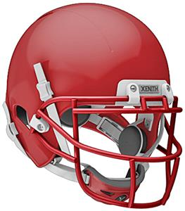 SCARLET (HELMET/FACEMASK/CHINCUP/WHITE CHINSTRAP)