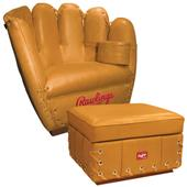 Rawlings Premium Leather Glove Chair Ottoman Combo