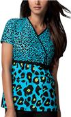 Cherokee Runway Womens Mock Wrap Tunic Scrub Top