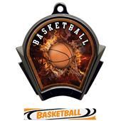 Hasty Awards Inferno Basketball Black Finish Medal