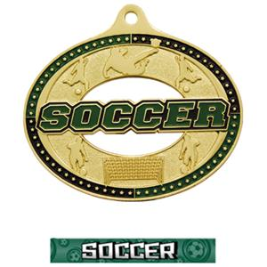 GOLD MEDAL/GRAPHX SOCCER NECK RIBBON