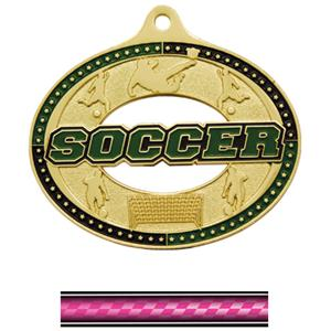 GOLD MEDAL/VICTORY PINK NECK RIBBON