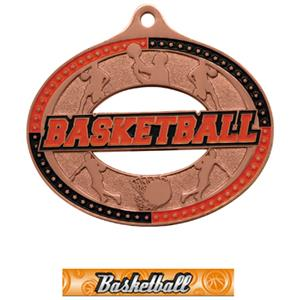 BRONZE MEDAL/GRAPHX BASKETBALL NECK RIBBON