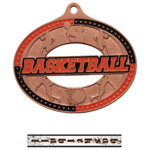 BRONZE MEDAL/INTENSE BASKETBALL NECK RIBBON