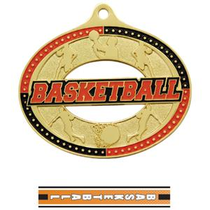 GOLD MEDAL/TURBO BASKETBALL NECK RIBBON