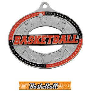 SILVER MEDAL/GRAPHX BASKETBALL NECK RIBBON