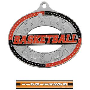 SILVER MEDAL/TURBO BASKETBALL NECK RIBBON