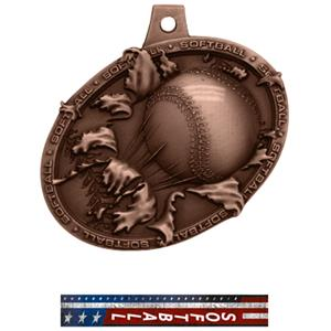 BRONZE MEDAL/PATRIOT SOFTBALL NECK RIBBON