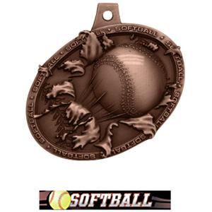 BRONZE MEDAL/ULTIMATE SOFTBALL NECK RIBBON