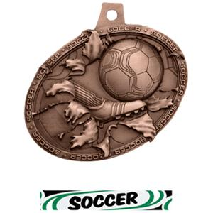BRONZE MEDAL/DELUXE SOCCER NECK RIBBON