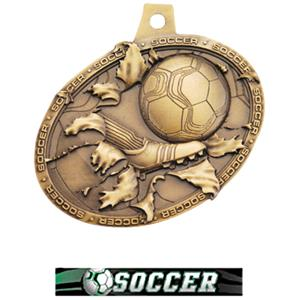 GOLD MEDAL/ULTIMATE SOCCER NECK RIBBON