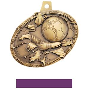 GOLD MEDAL/PURPLE NECK RIBBON