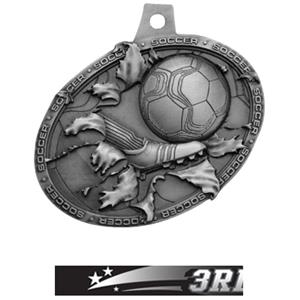 SILVER MEDAL/ULTIMATE 3RD PLACE NECK RIBBON