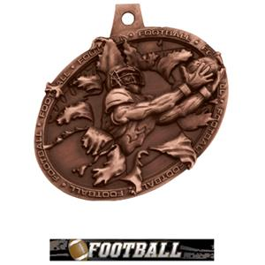 BRONZE MEDAL/ULTIMATE FOOTBALL NECK RIBBON