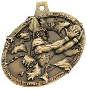 GOLD MEDAL/AMERICANA FOOTBALL NECK RIBBON