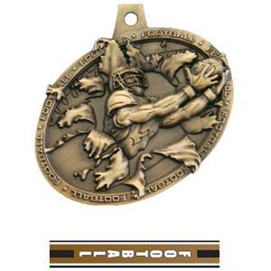 GOLD MEDAL/TURBO FOOTBALL NECK RIBBON