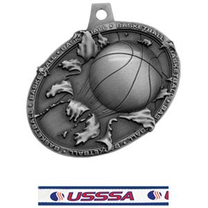 SILVER MEDAL/USSSA NECK RIBBON
