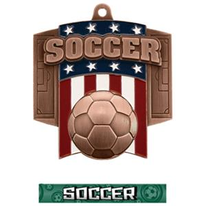 BRONZE MEDAL/GRAPHX SOCCER NECK RIBBON