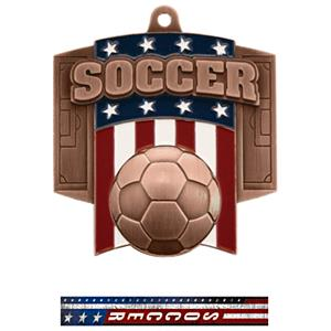 BRONZE MEDAL/PATRIOT SOCCER NECK RIBBON