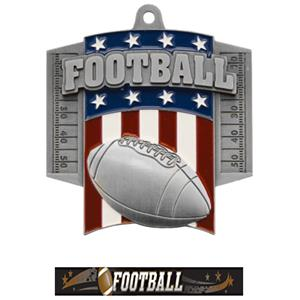 SILVER MEDAL/ULTIMATE FOOTBALL NECK RIBBON