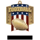 Hasty Awards Patriot Football Medal M-776F