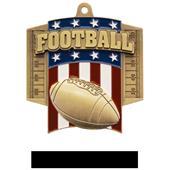 Hasty Awards Patriot Football Medal M-776F