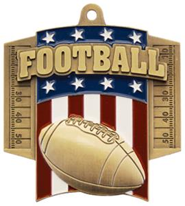 GOLD MEDAL/AMERICANA FOOTBALL NECK RIBBON