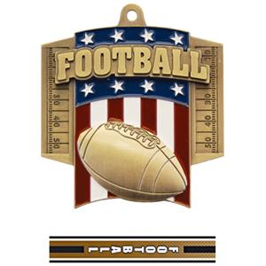 GOLD MEDAL/TURBO FOOTBALL NECK RIBBON