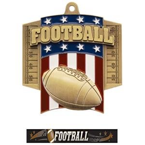 GOLD MEDAL/ULTIMATE FOOTBALL NECK RIBBON