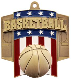 GOLD MEDAL/INTENSE BASKETBALL NECK RIBBON