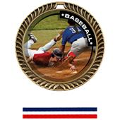 Hasty Awards Crest Baseball Medal P.R.2 M-8650C