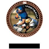 Hasty Awards Crest Football Medal P.R.2 M-8650F