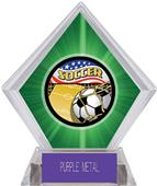Americana Soccer Green Diamond Ice Trophy